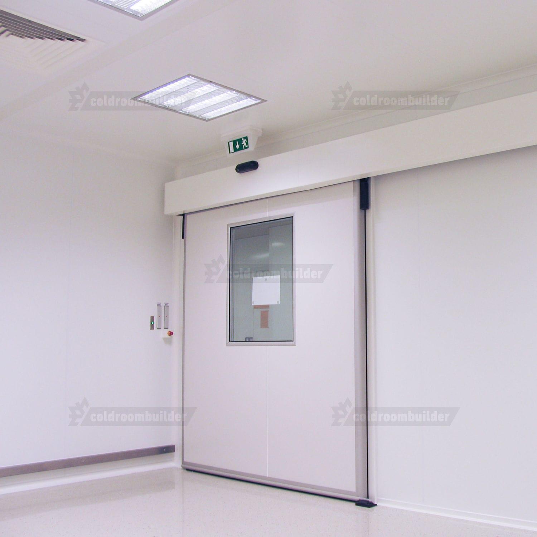 Porta scorrevole / per camera bianca / per l\'industria farmaceutica ...