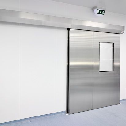 Porta per camera bianca / scorrevole / battente / a vetrina - Clestra
