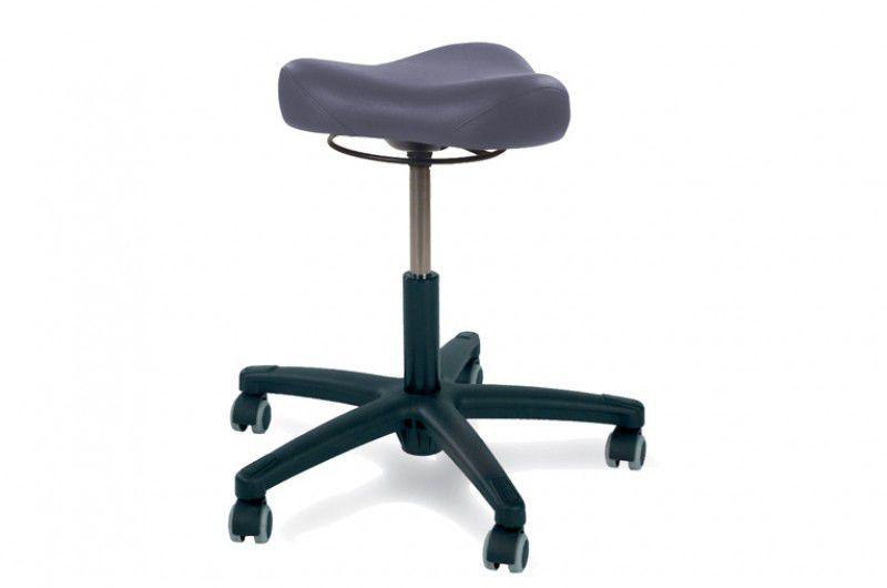 Sgabello per ambulatorio ad altezza regolabile con rotelle