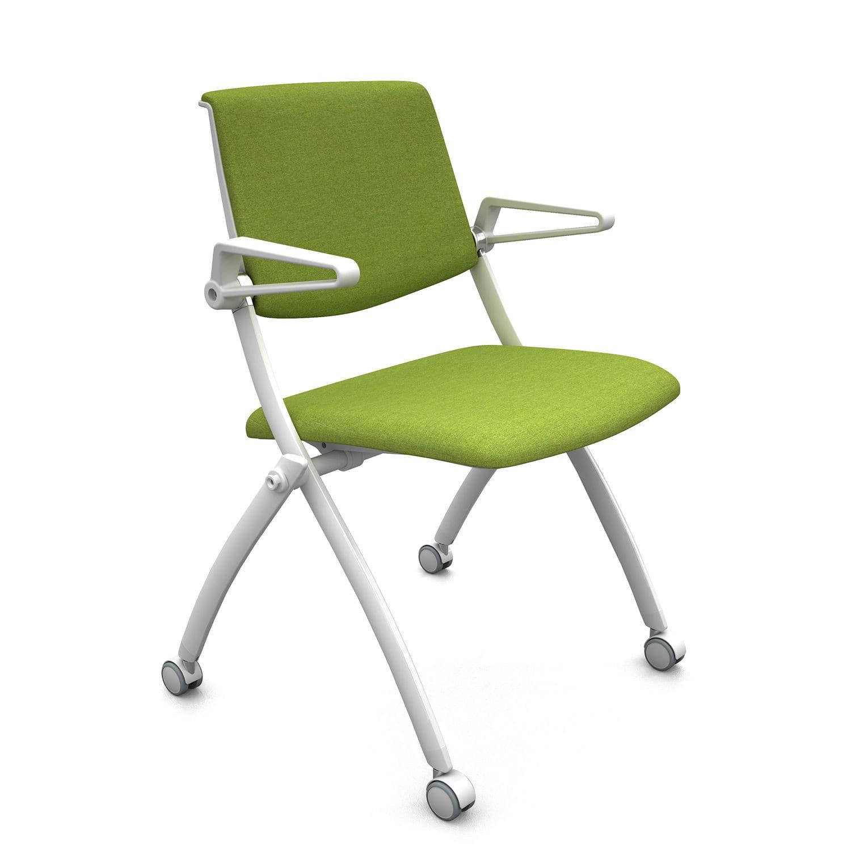 Sedia con braccioli / con rotelle / pieghevole / ergonomica - Zero9 ...