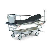 Barella con carrello da trasporto / idropneumatica / ad altezza regolabile / radiotrasparente
