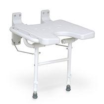 Sedia da doccia / senza schienale / a muro / pieghevole