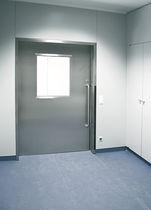 Porta da laboratorio / per ospedale / battente / a vetrina