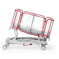 Culla pediatrica ad altezza regolabile / con rotelle / Trendelenburg / anti-Trendelenburg
