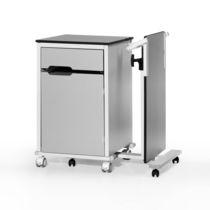 Comodino con armadietto / con tavolino servitore separato / con rotelle