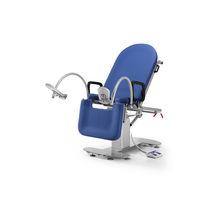 Lettino da visita ginecologico / manuale / ad altezza regolabile / con rotelle
