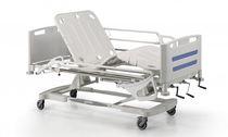Letto per ospedale / manuale / ad altezza regolabile / con rotelle
