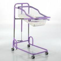 Culla pediatrica ad altezza regolabile / con rotelle / anti-Trendelenburg / Trendelenburg