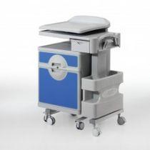 Comodino con armadietto / con tavolino servitore separato / con rotelle / modulare