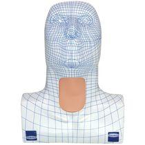 Manichino didattico per cure / per tracheotomia / testa