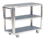 Carrello di trasporto / di stoccaggio / per accessori da tavolo operatorio / 3 vassoi