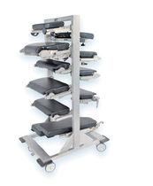 Carrello di stoccaggio / per accessori da tavolo operatorio / con piano di appoggio