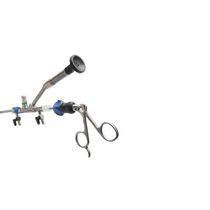 Endoscopio nefroscopio / ad angolo / con fibra ottica per laser / con canale operativo