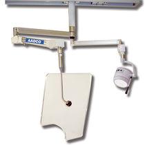 Pannello schermante di radioprotezione raggi X / a soffitto / con lampade scialitiche alogene fissati al