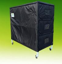 Rack di stoccaggio per feretri / per barelle mortuarie / con rotelle
