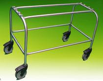 Carrello di trasporto / portaferetri / in acciaio inossidabile