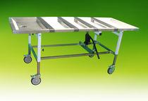 Tavolo per imbalsamazione su rotelle / ad altezza variabile / idraulico