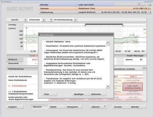 software di valutazione / di registrazione / di analisi / per monitor della pressione arteriosa
