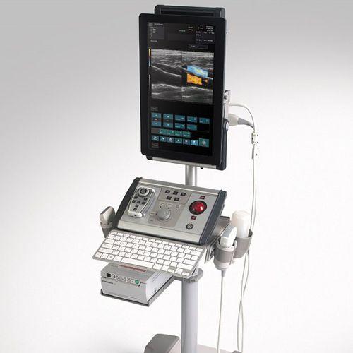 ecografo portatile con carrello / per ecografia muscolo-scheletrica / bianco e nero / doppler a colori