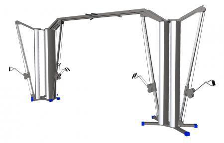 Carrucola per esercizi bassa / alta / a doppio cavo / con barra per trazioni 8205  HUR