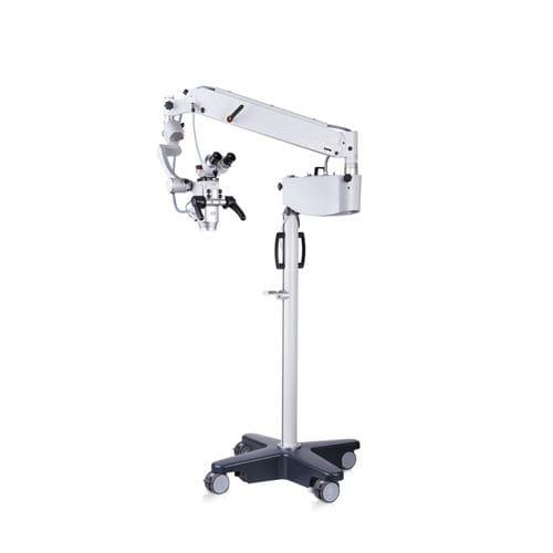 microscopio per chirurgia ORL / con rotelle