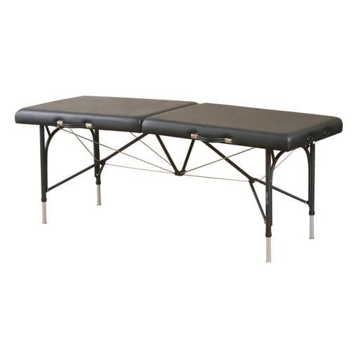 lettino da massaggio manuale / regolabile in altezza / portatile / a sezione unica