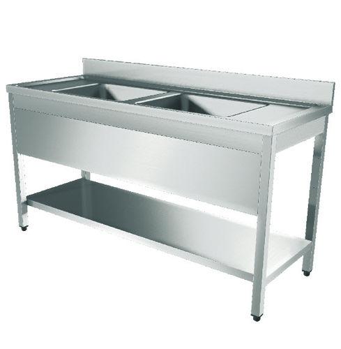 banco da laboratorio per camera bianca / modulare / in acciaio inossidabile
