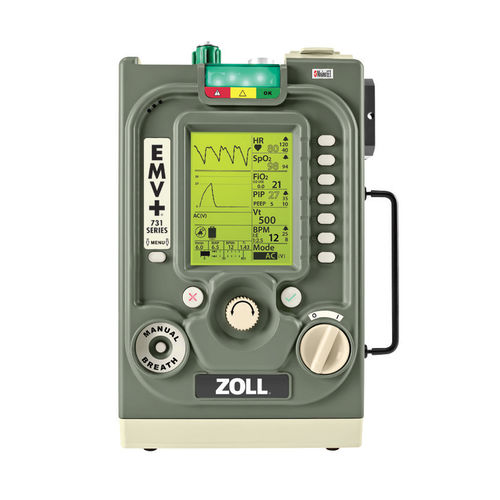 Ventilatore elettronico / di emergenza / da trasporto / CPAP EMV+® ZOLL Medical Corporation