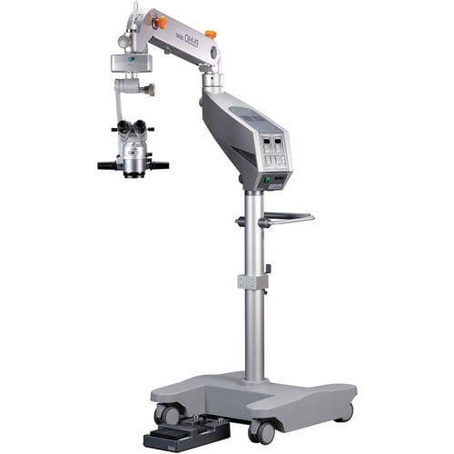 microscopio per chirurgia oculistica / con rotelle