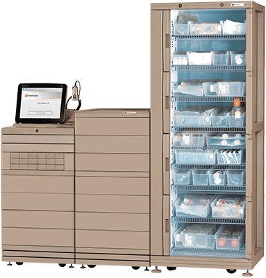 sistema automatizzato di distribuzione di farmaci / per farmacie / su rotelle / con computer