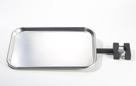 vassoio medico / in acciaio inossidabile / su guida di scorrimento