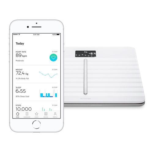 analizzatore di composizione corporea per bioimpedenziometria / per misurazione della massa grassa / con display digitale / con connessione wireless