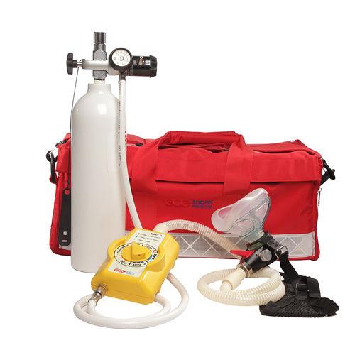 Sistema di ossigenoterapia portatile / con bombola di ossigeno / con maschera di ossigeno MARS II GCE