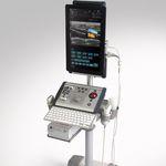 ecografo portatile con carrello / per ecografia urologica / bianco e nero / doppler a colori