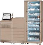 sistema automatizzato di distribuzione per farmacie / di farmaci / con computer / su rotelle