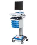 Carrello informatico di distribuzione di farmaci / ad altezza regolabile / con cassetti / con batteria 1781745 Rubbermaid Medical Solutions