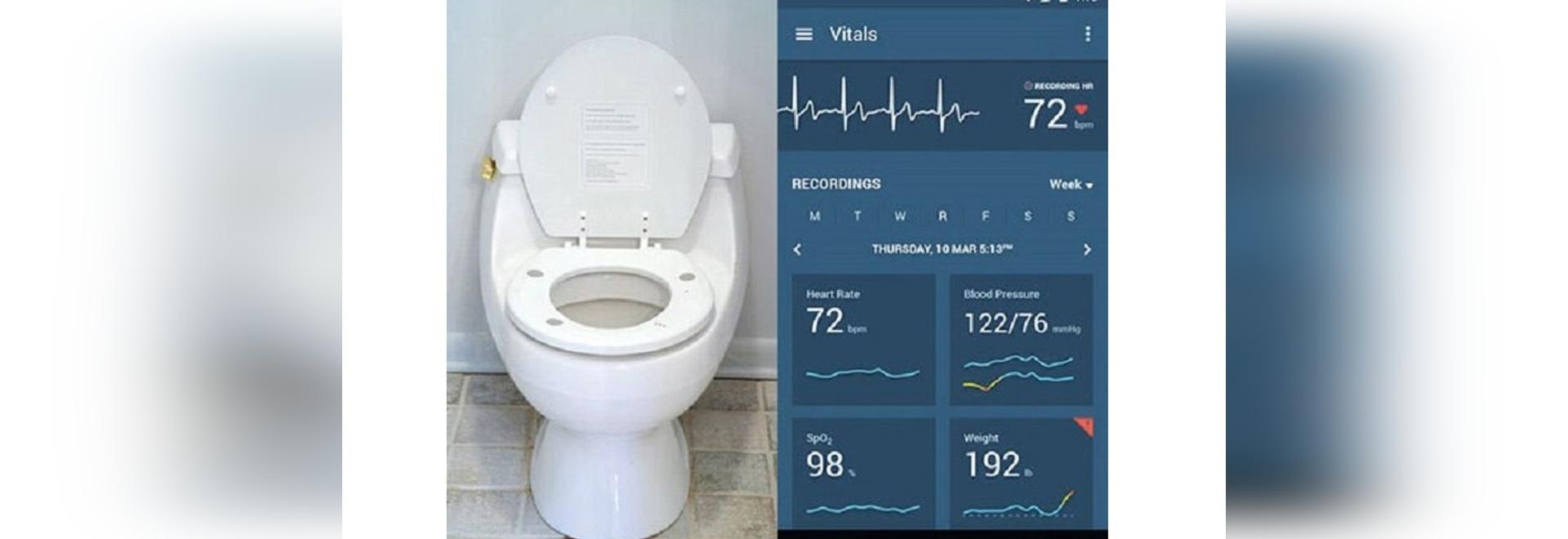 La toilette Seat misura automaticamente l'ospite dei parametri cardiaci per controllare la salute del cuore