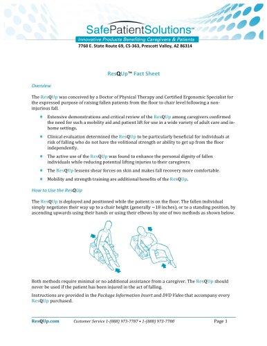 ResQUp Fact Sheet