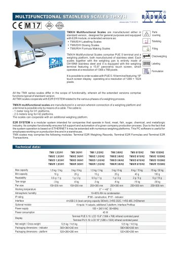 MULTIFUNCTIONAL STAINLESS SCALES TMX/H