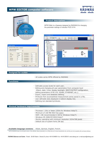 WPW EDITOR Computer software