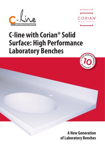 C-line with Corian® - High Performance Laboratory Benches