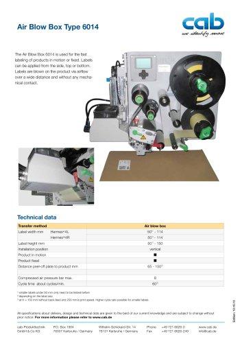 Air Blow Box Type 6014