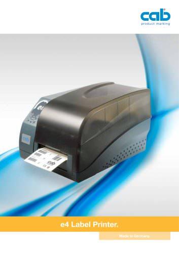 e4 label printer
