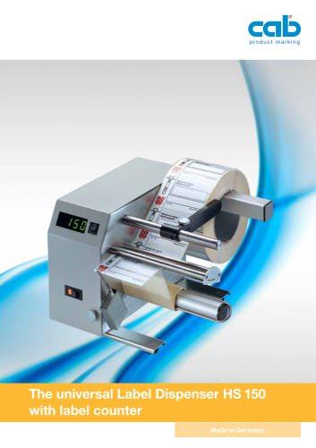 Label dispenser HS 150