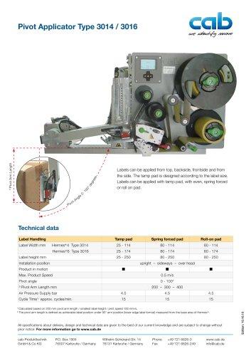 Pivot Applicator Type 3014 / 3016