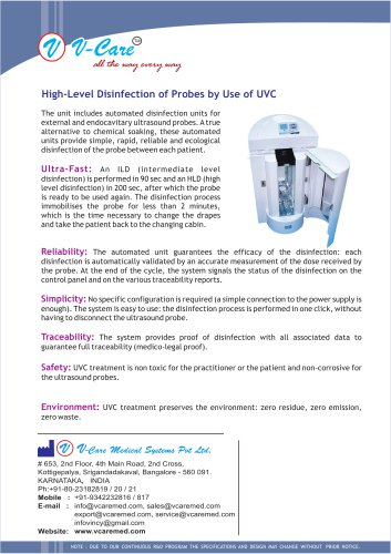 High-Level Disinfection of Probes by Use of UVC
