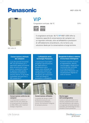 MDF-U55V VIP Congelatore verticale -86°C
