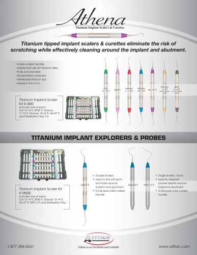 Titanium Implant Instruments