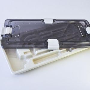 vassoio di sterilizzazione per strumenti / in plastica / perforato / termoformato