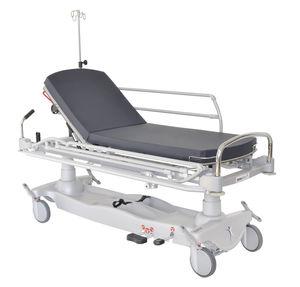 barella con carrello di emergenza / idraulica / ad altezza regolabile / con schienale regolabile